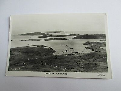 Postcard of Castle bay from Heaval (Barra) No 3411 (Violet Banks 1970 posted)