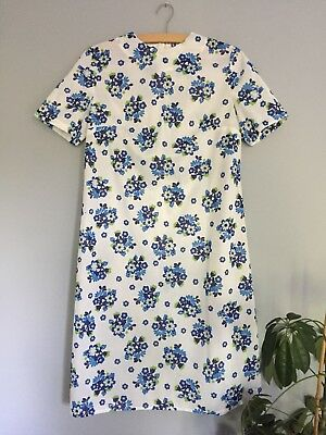 Original Vintage Retro Shift Dress 60s 70s Floral Size 12 14 16 💚💙