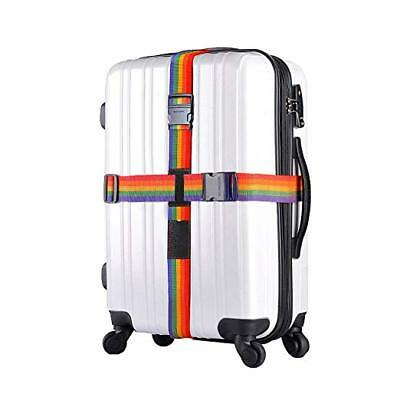 2 x Adjustable Luggage Suitcase Cross Strap Travel Baggage Storage Bag Belt