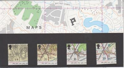 221 1991 MAPS STAMPS PRESENTATION PACK Great Britain GB