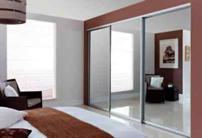 Hand Built Fitted Sliding Wardrobe Doors In Mirror, Glass Or Wood Over 4 Designs
