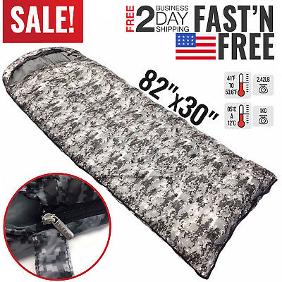 Lightweight Sleeping Bag Camping Backpacking Mummy Winter Cold Weather Compact