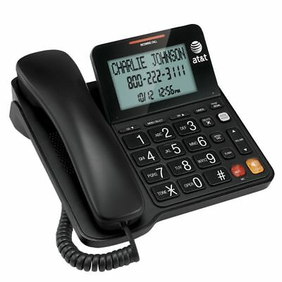 AT&T CL2940 Corded Phone with Speakerphone and Caller ID Large Display - Black
