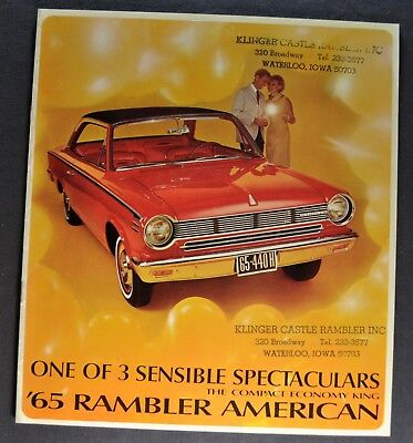 1965 Rambler American Catalog Brochure 440 H 330 220 AMC Nash Excellent Original