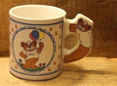 Vintage Zellers Zeddy Teddy Bear Mug Canada Department Store Advertising +