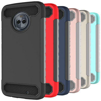 For Motorola Moto X4 TPU Dual Structure Tough Hard Gel Rugged Phone Case Cover