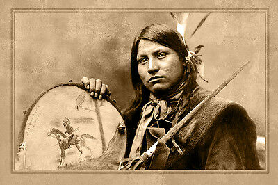 Thomas No Water Lakota 1899 Photograph A++ Reprint Cabinet Card