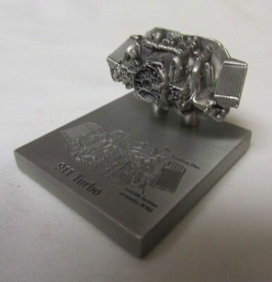 PORSCHE 911 Turbo Engine Model Miniature Pewter Promotional Sculpture Rare