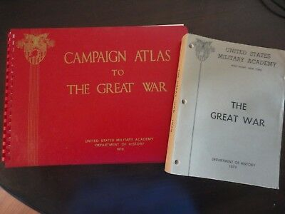 Book and Atlas-The Great War and Campaign Atlas to the Great War
