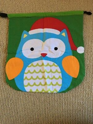 Hand Made Christmas Owl Sack