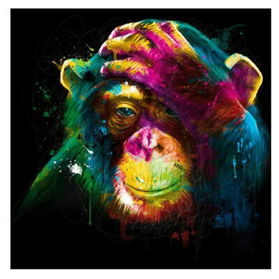 3X(Color Monkey Mosaic Full Resin Diamond Painting Cross Stitch Square Diam H6R6