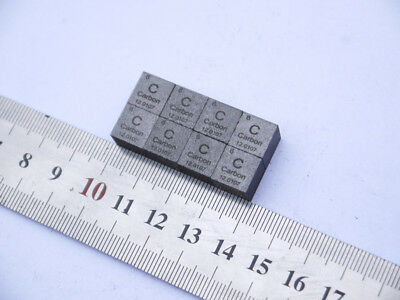 High Purity 99.9% Carbon C Element Periodic Table Cube 1.79g