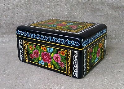 Gorgeous Olinala Lacquered Box. Mexican Folk Art.
