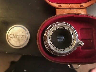 Canon RF Screw Mount 28mm F/3.5 Lens With Case (Leica Compatible)