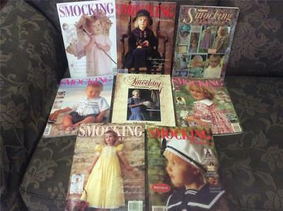 7 Vintage Retro Australian Smocking Magazines  Books Crafts Plus Aust Smocking