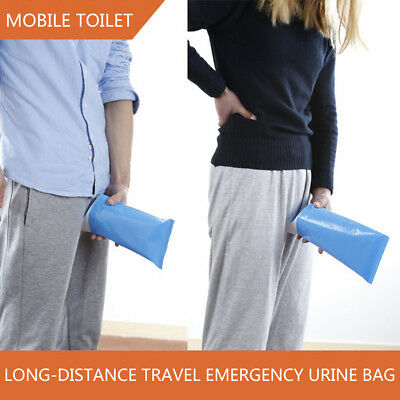 New Portable Camping Urinal Bag Female Unisex Emergency Standing UP Pee 2018 K5