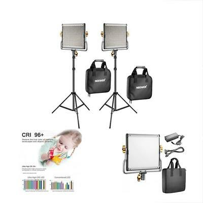 Neewer Tripods & Monopods 2 Packs Dimmable Bi-color 480 LED Video Light And Kit