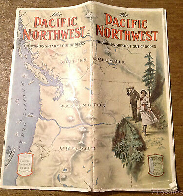 Vtg c1920 The Pacific Northwest, Worlds Greatest Out of Doors Tourist Brochure