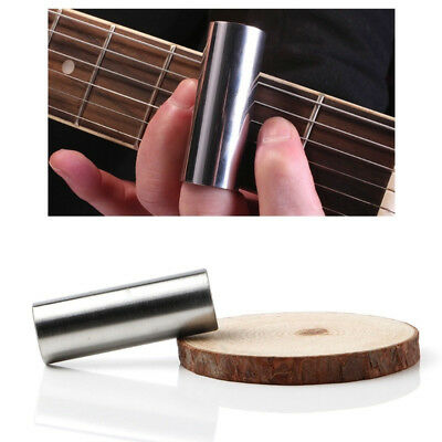 2 Pieces Stainless Steel + Glass Guitar Slide Bars for Acoustic Guitar 6cm