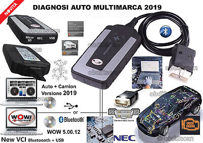 Diagnosi Auto Professionale Multimarca Wow 5.00.12 2018