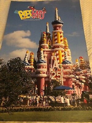 Walt Disney World Eyes and Ears 25th Anniversary Castle Cake 1996 CM Excl News