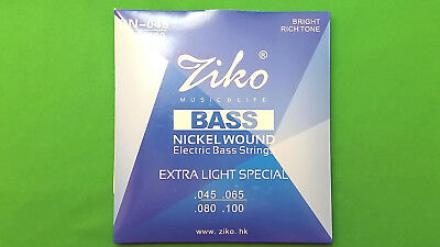 Electric Bass 4-string set ZIKO DN-045 High Qual. Alloy Nickel Wound 045-100