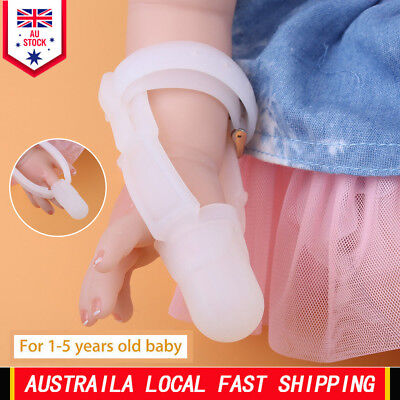 Non-toxic Silicone Baby Kids Finger Guard Stop Sucking Wrist Band Treatment New
