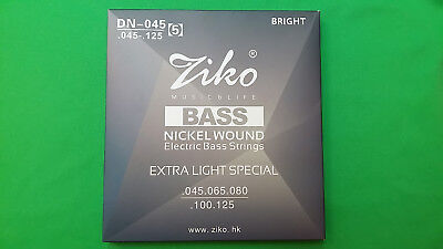 Electric Bass 5-string set ZIKO DN-045(5) High Qual. Alloy Nickel Wound 045-125