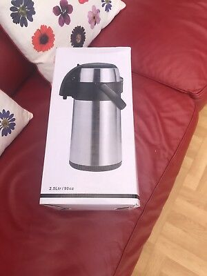 Olympia Pump Action Airpot 2.5Ltr Stainless Steel flask water hot