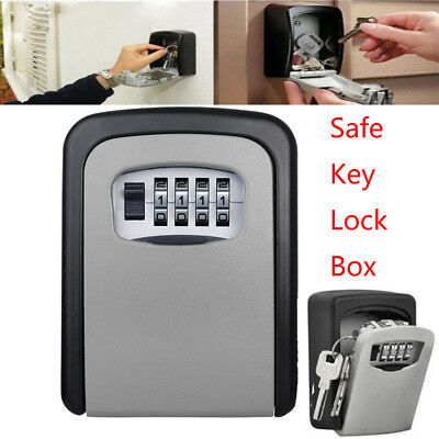 Safe Key Lock Box Wall Mount With Code 4 Digit Combination Lock For Outside Door
