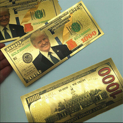 2x President Donald Trump $1000 Dollar Commemorative Banknote Non-currency Note