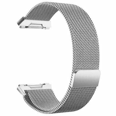 For Fitbit Ionic Bands Large Replacement Magnetic Loop Strap Stainless Stee N3Q6