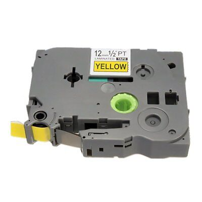 Label Tape Cartridge - 12mm (1/2inch) x 8M for Brother TZ P-Touch Printer, D2U2