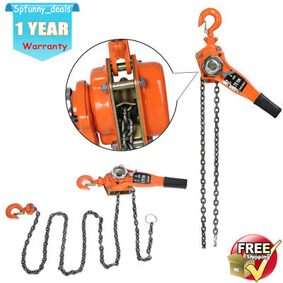 0.75 Ton Chain Block 3 meter chain Hoist Heavy Duty Tackle Engine Lifting Pulley