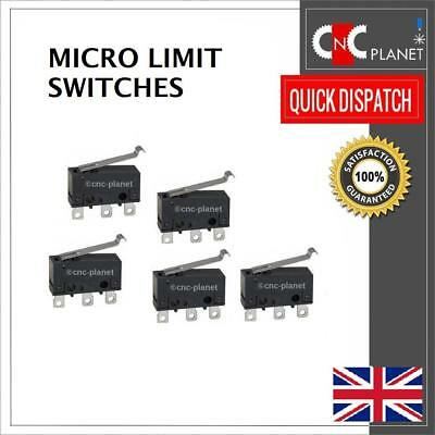 Micro Limit Switch Lever type 250V 5A N/O N/C for V-Slot CNC Router 3D Printer