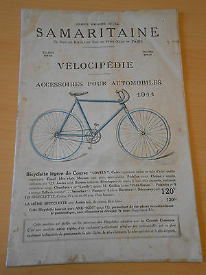 prospectus catalogue 1911 vélos SAMARITAINE