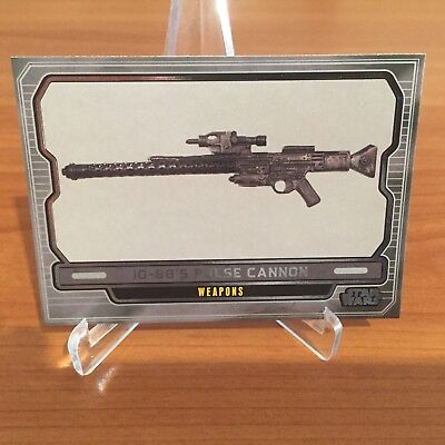 Star Wars Galactic Files Series 2 IG-88'S PULSE CANNON # 626