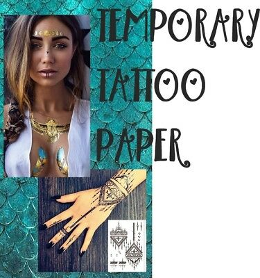 Temporary TATTOO PAPER DIY A4 Laser Printer Waterproof Printable Long Last