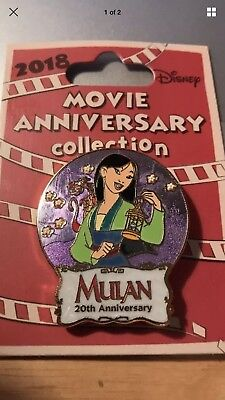 "Disney Cast Member  Pin ! EX. LE  (750)  20th  Movie Anniversary  ""MULAN"" New!"