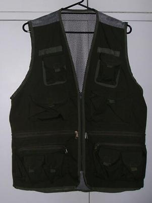 *NEW* GREEN Multi Pocket VEST sz XL Fishing Camping Hunting Hiking Photography