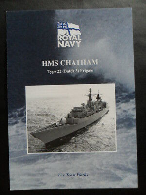Royal Navy HMS CHATHAM Welcome Aboard 2002