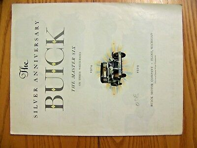 1929 Buick Silver Anniversary Sales Brochure-Original-Poster Size!!!