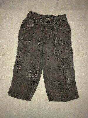 Baby Clothing Boys Pants Size  1 - Brown Check