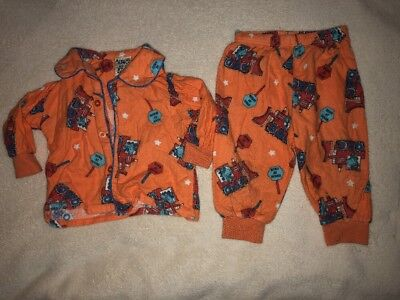 Baby Clothing Boys Dino Flannelette Pj's Size 0