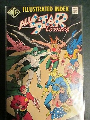 OFFICIAL ALL-STAR COMICS ILLUSTRATED INDEX #1 (Justice Society JSA) 1987