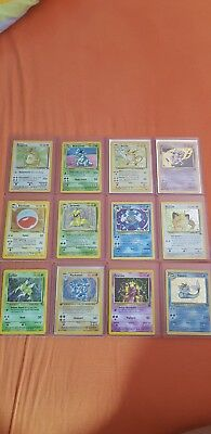 Pokemon Karten Basis Set Sammlung 1. Edition Stern, Uncommon und Common! Deutsch