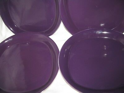 6 Rachael Ray Round & Square-4 Salad Plate-2 Cereal Bowl-Purple-M019-EC