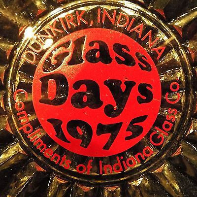 Indiana Glass Co.Glass Days 1975 Dunkirk Indiana Advertising 6 inch Plate