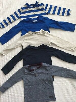 Mothercare Baby Boys Bundle 12-18 Months Long Sleeved Tops