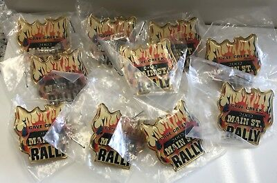 NEW - Lot of 10 Pins - 2002 CAVE CREEK Main St Motorcycle RALLY AZ - HIDEAWAY